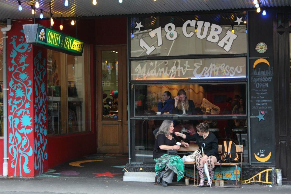 Wellington bohemia at Cuba Street New Zealand