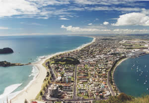 View of Mount Maunganui from the Mount