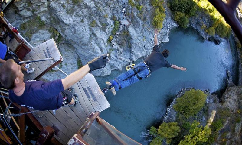 kawarau bungy jumping new zealand