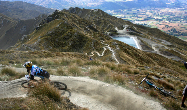 Skippers Downhill track Queenstown bike trails New Zealand